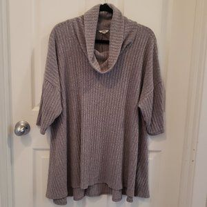Cowl Neck Short Sleeved Sweater